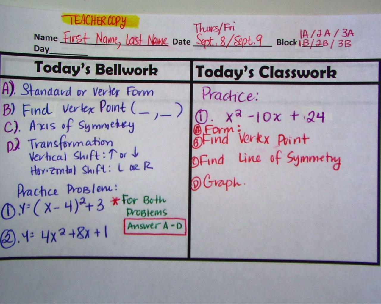 bellwork questions This bellwork for week 7-rocks worksheet is suitable for 7th - 9th grade in this rock worksheet, students answer seven questions about the rock cycle, types of rocks, and the formation of specific rocks they also answer questions about experimental design.
