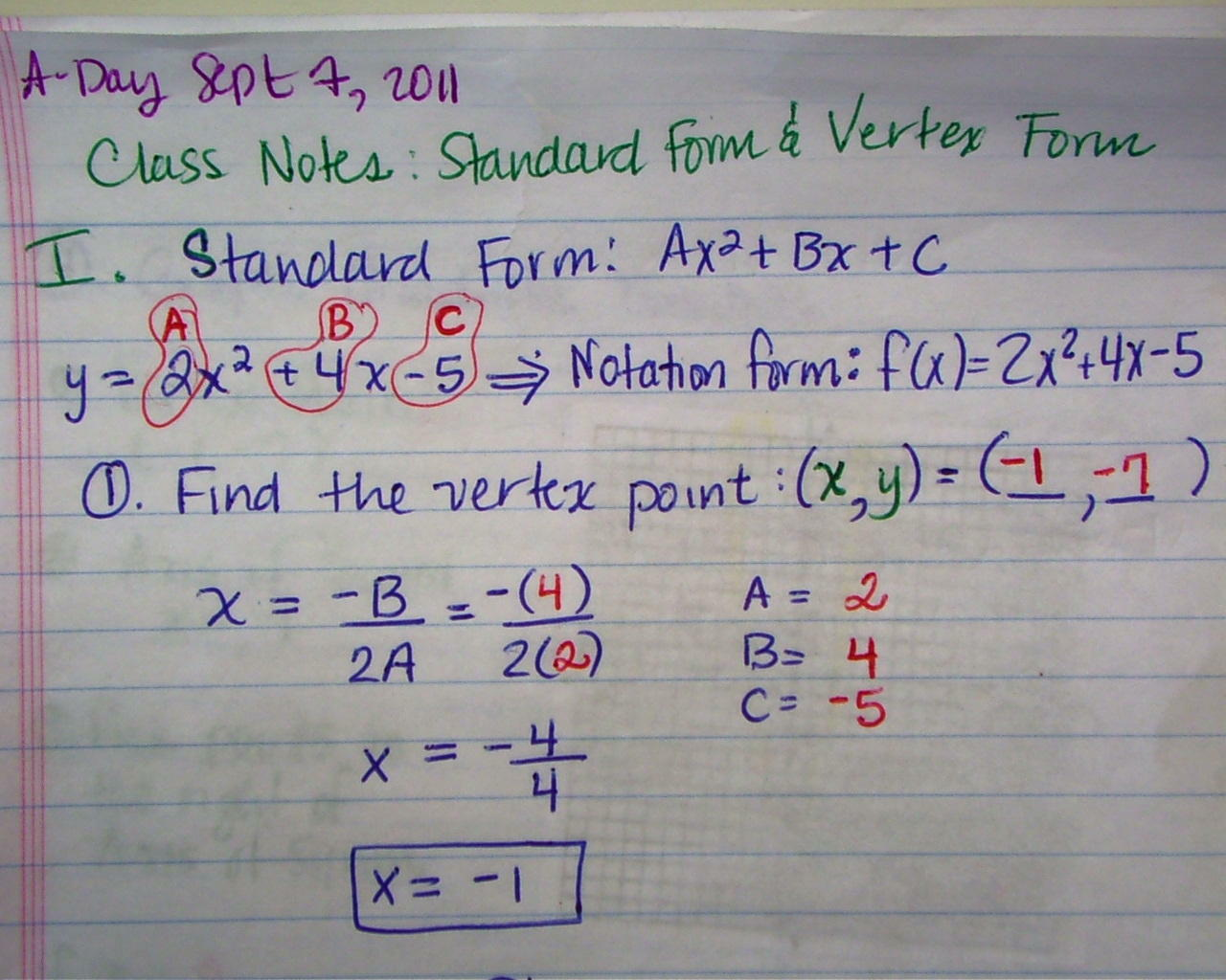 Sept 7 8 ab how to graph in vertex quadratic form pg1 view this photo falaconquin