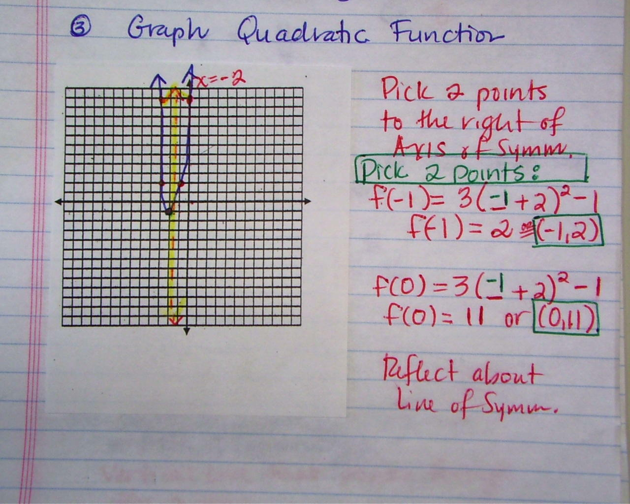 Sept 7 8 Ab How To Graph In Vertex Quadratic Form